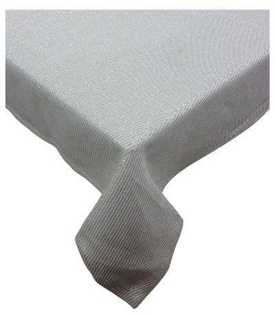 Threshold Metallic Chevron Tablecloth Large White