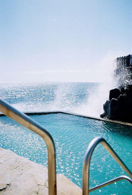 .Swimming pool and wild landascape
