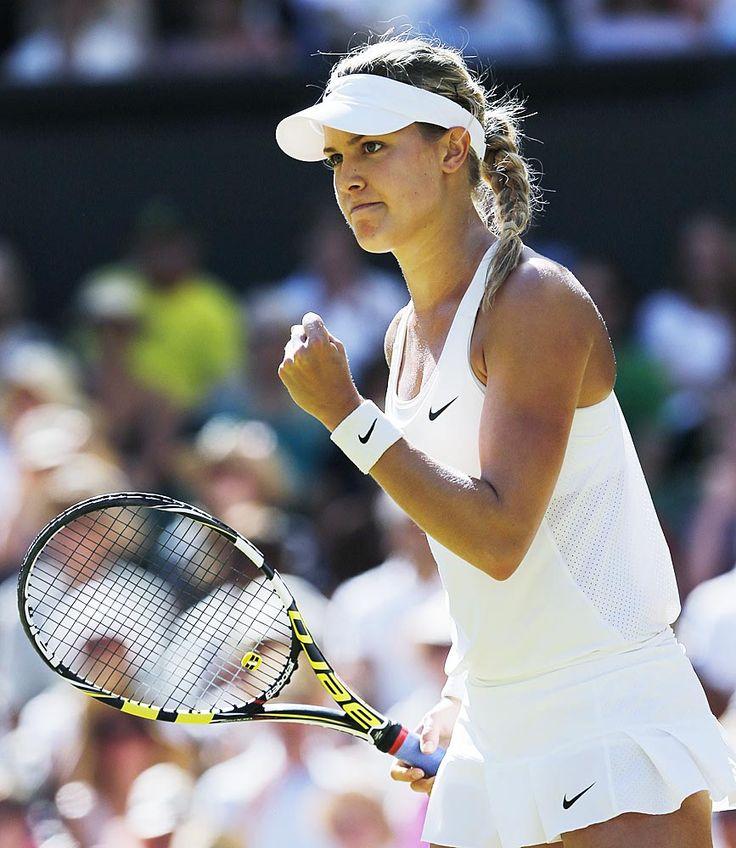 3/7/2014 - Eugenie Bouchard passe en finale de Wimbledon, un exploit historique! À 20 ans, Bouchard est la première joueuse canadienne à atteindre la finale d'un tournoi du grand chelem.