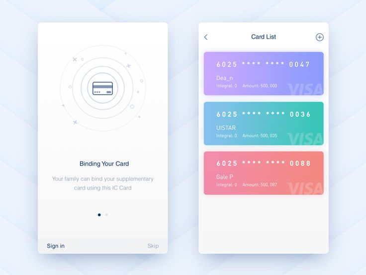 Binding You Card Your family can bind your supplementary card using this IC Card. Card List Show all your card, add your card. Inspiration Thanks @Dea_n @Gale P @UISTAR