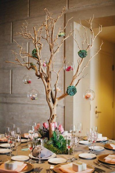 San Francisco Wedding by Tinywater Photography. Succulent Wedding  CenterpiecesBranch ... - Best 25+ Tree Branch Centerpieces Ideas On Pinterest Lighted