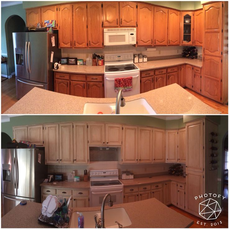 Kitchen Transformation Before And After: Rustoleum Cabinet Transformation