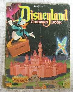Vintage 1955 DISNEYLAND Coloring Book Walt Disney By Whitman Mickey Mouse Donald