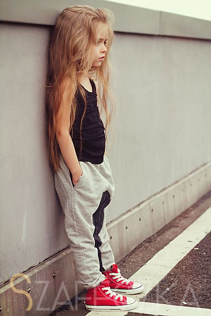 Okay, I know a little girl is wearing this outfit but how adorbs are those pants with those chucks?!