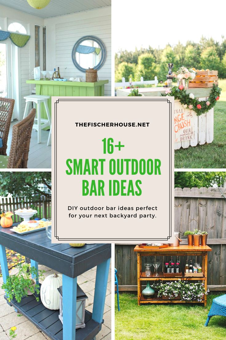 16 Smart and Delightful Outdoor Bar Ideas