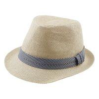 Moda Niños Niñas Fedora Del Sombrero Flexible Del Gángster Cap Kids Summer Beach Sunhat Panamá Sombrero de Paja con Banda Infantil QRD012