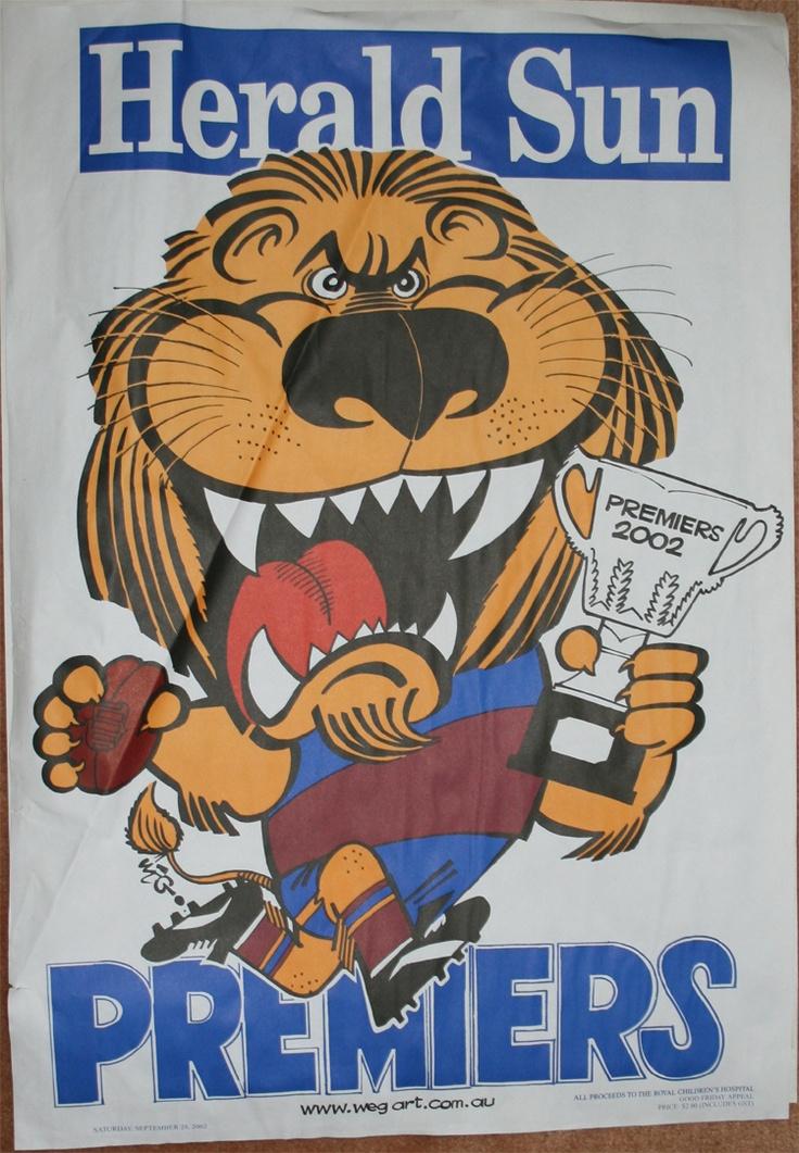 Weg Premiers Poster 2002 Brisbane Lions