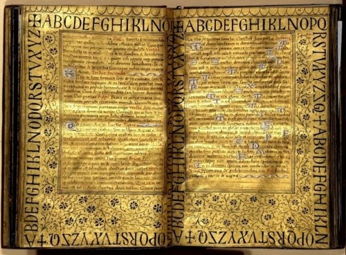 Golden pages and illuminations by the Master of Petrarch's Triumphs.