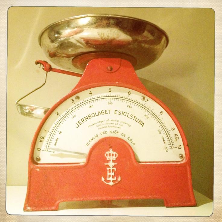 Scandinavian kitchen scales.