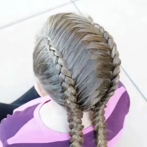 Criss cross dutch braids tutorial. DIY