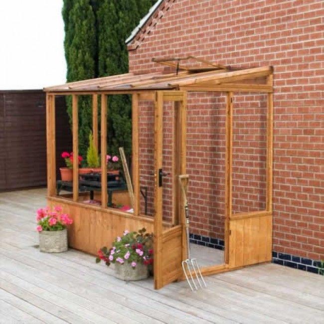 8' x 4' Groundsman Wooden Lean to Pent Unit Greenhouse