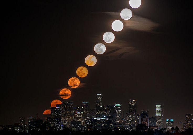Un incroyable lever de lune aux États-Unis