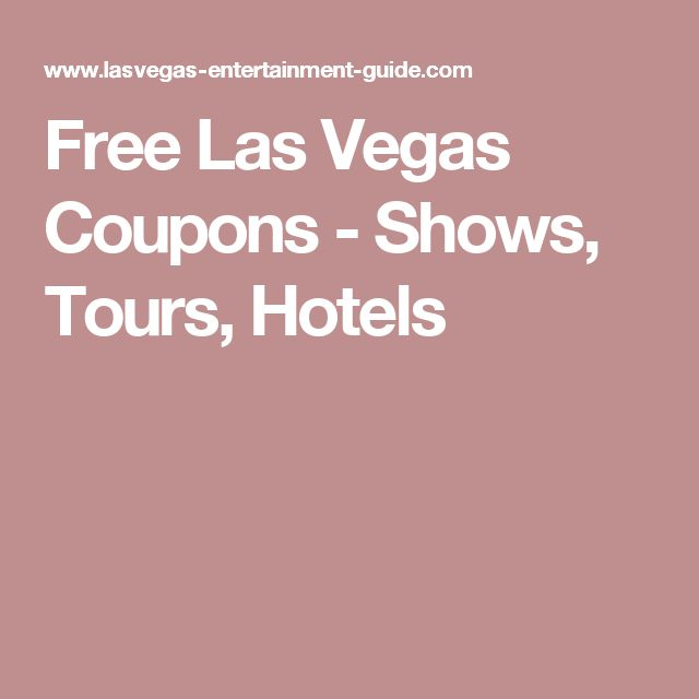 Las vegas offers coupons