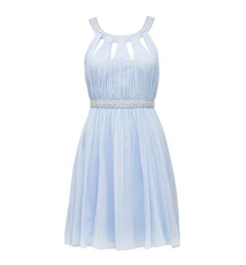 Uçuk mavi elbise