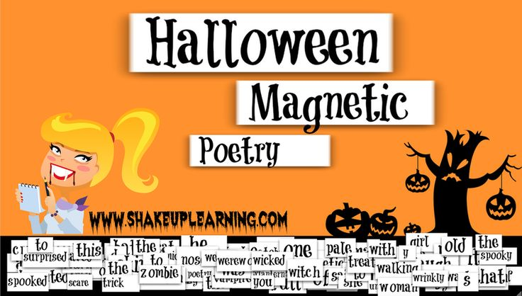 """Who's ready for a little Halloween fun with Google Drawings? I've created a Halloween-themed magnetic poetry template with Google Drawings for you and your students. There are nearly 100 words in this one, so adapt the words that are appropriate for your grade levels. You can use this as an independent activity, or take it a step further and make it a collaborative activity and see how the poetry evolves. You can use the """"magnets"""" included, or even add your own text boxes to extend the…"""