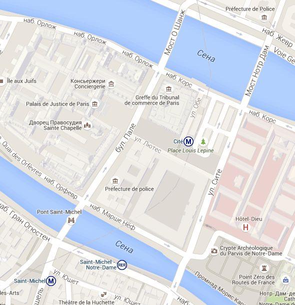 Le plan interactif des musées Paris Museum Pass