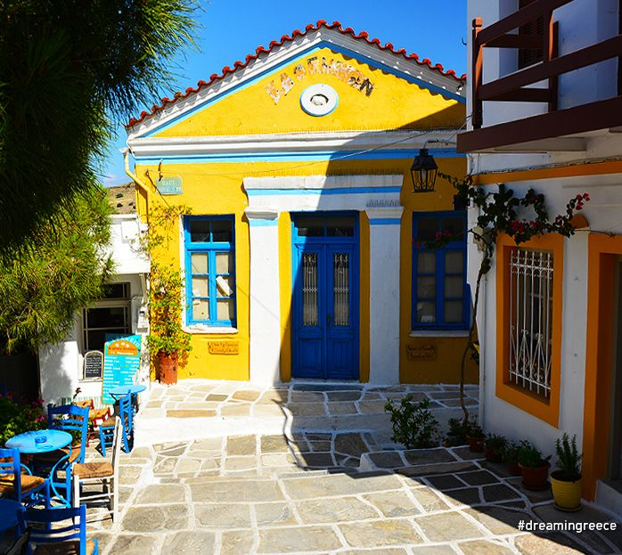 "Lefkes village in Paros, Cyclades, Greece. The cosmopolitan island of Paros is one of the largest islands of the Cyclades. ""Dressed"" in the traditional Cycladic white-blue colors and surrounded by dreamy beaches, is rightfully featured in the list of the top summer destinations... #paros #vacations #dreamingreece #travelguide #travel #greekislands #greece"