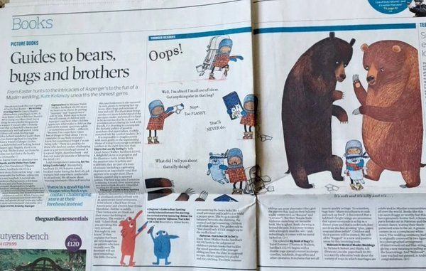 """The Catchpole Agency on Twitter: """"Love this spread from the Observer! #CoverKidsBooks #BearSpotting (Thanks for the photo @MicheRobinson!) #paper #mmm """""""