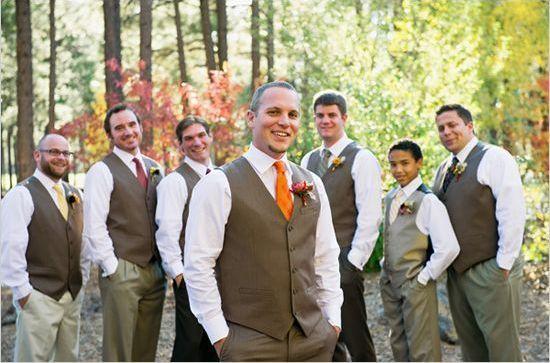 Fall Wedding Style for The Groom and Groomsmen » KnotsVilla