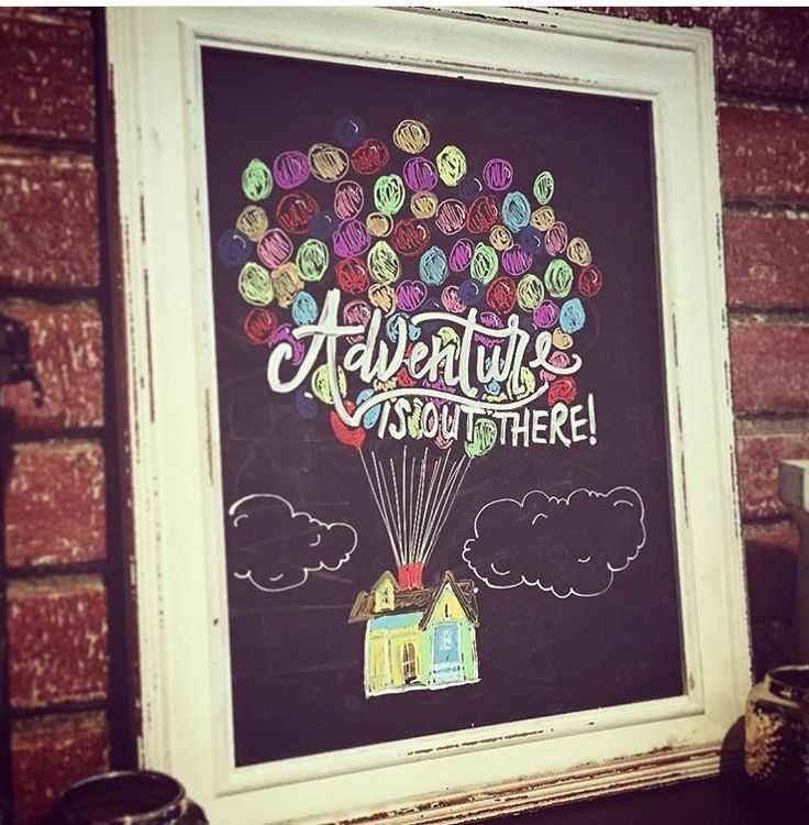 "Disney/Pixar ""UP"" chalkboard art"