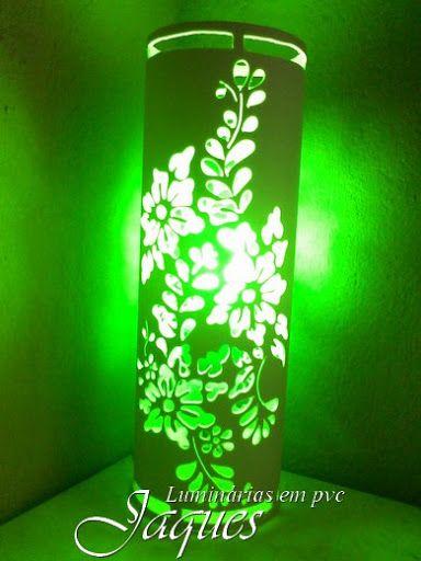 luminárias em pvc floral