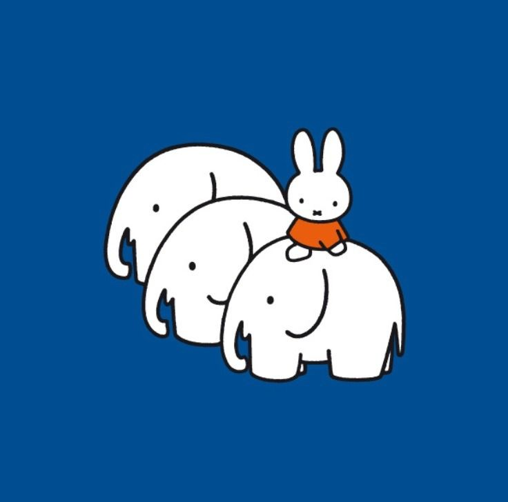 Miffy with elephants