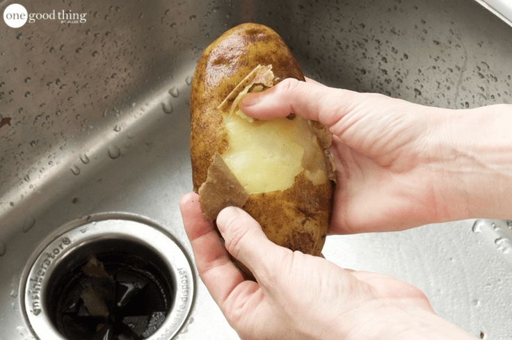 This Is The Absolute Easiest Way To Peel Potatoes - One Good Thing by JilleePinterestFacebookEmailPinterestFacebookPrintFriendlyAddthis