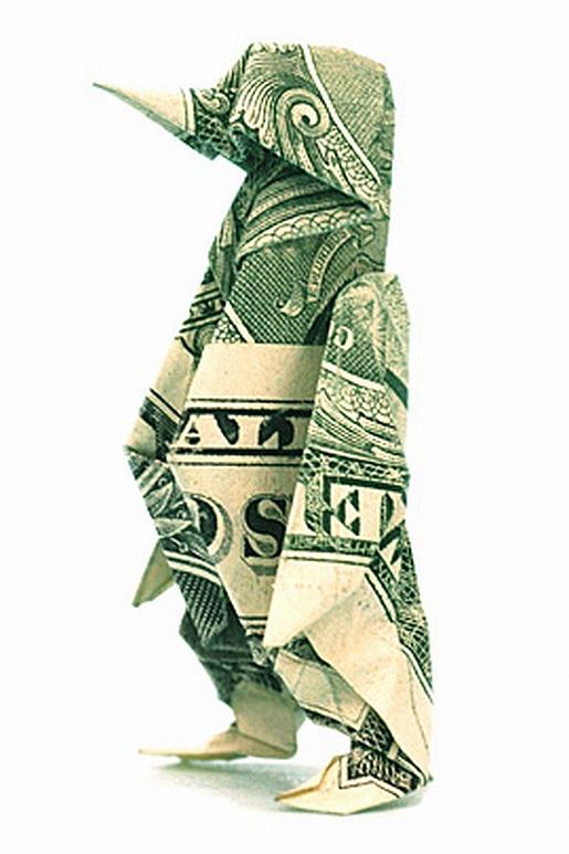 Dollaro Origami. Pinguino. Leggi il disclaimer: I prodotti finanziari negoziati in marginazione presentano un elevato rischio per il tuo capitale.