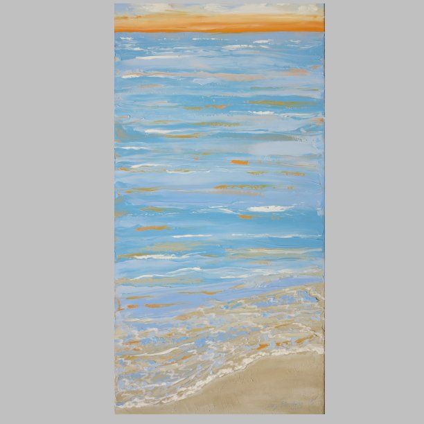 Painting - Morning by the sea - artist Lars Stounberg 2015