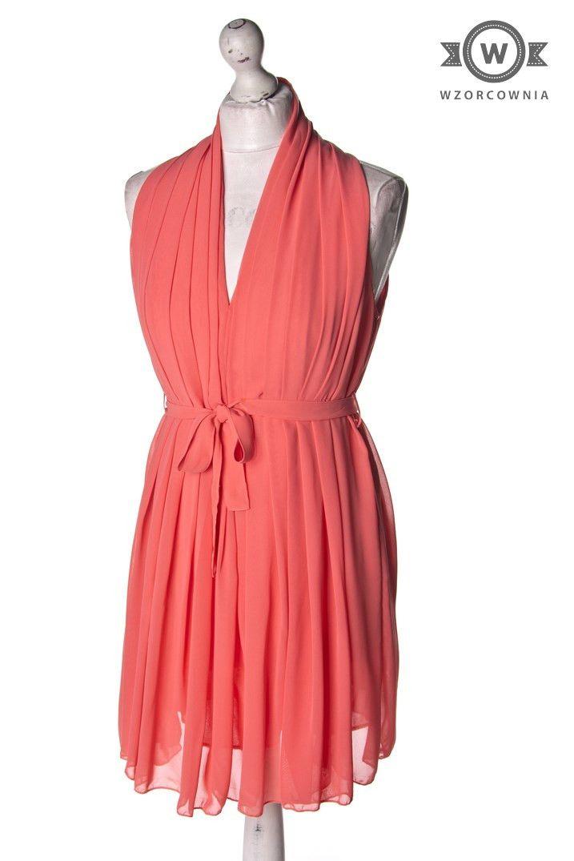 >> Piękna #morelowa #sukienka #Wzorcownia #online - | #CameoRose #dress
