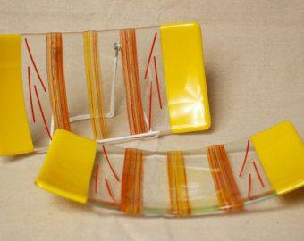 Sushi Plates set of 5 by WMGlassArtStudio on Etsy