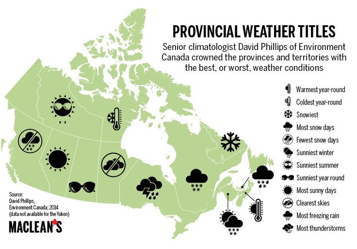 [Map] Provincial Weather Titles - the best and worst weather conditions as per Dave Phillips ^th