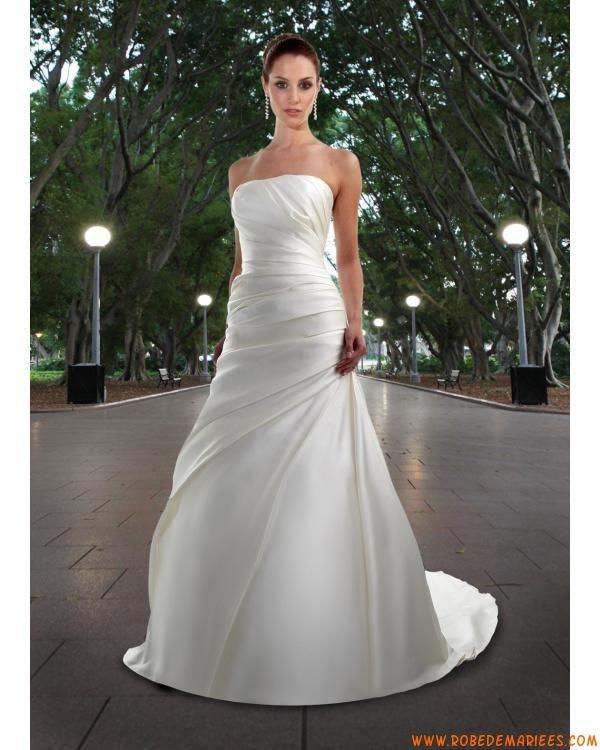 robe de mari e simple satin avec bustier robes de mari e pinterest