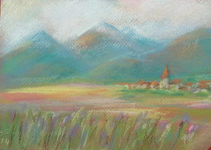 """FairyLand"" Original pastel painting by Liudmila Suhorucova"