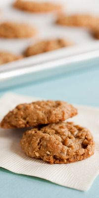 Sugar free banana oatmeal cookies - just oats, salt, cinnamon, vegetable oil, and bananas...