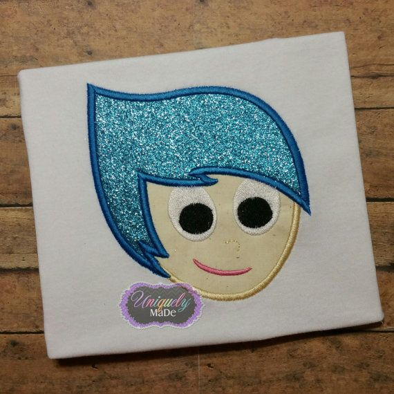 Joy Inside Out applique shirt Inside Out Movie por UniquelyMaDe02