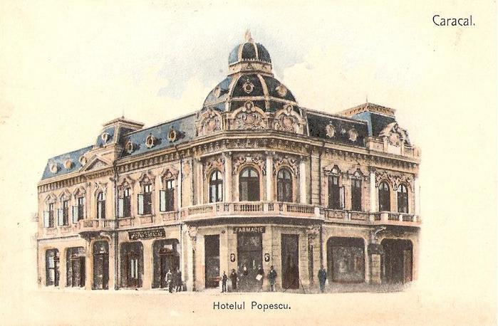 Caracal - Hotel Popescu - interbelica