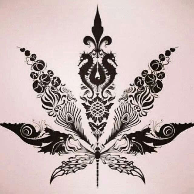 beautiful weed pinterest tattoo cannabis and tatting. Black Bedroom Furniture Sets. Home Design Ideas