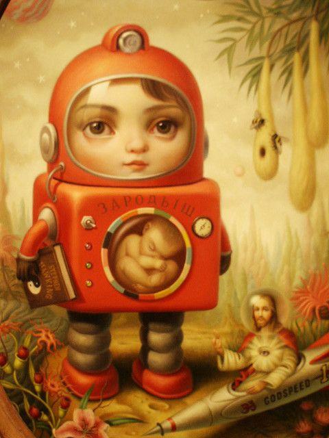 """Princess Sputnik"" (detail) by Mark Ryden"