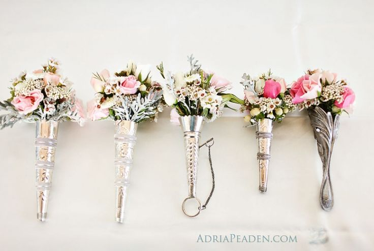 Silver Bridal Bouquet Holder : Tussie mussie tussy mussy nosegay