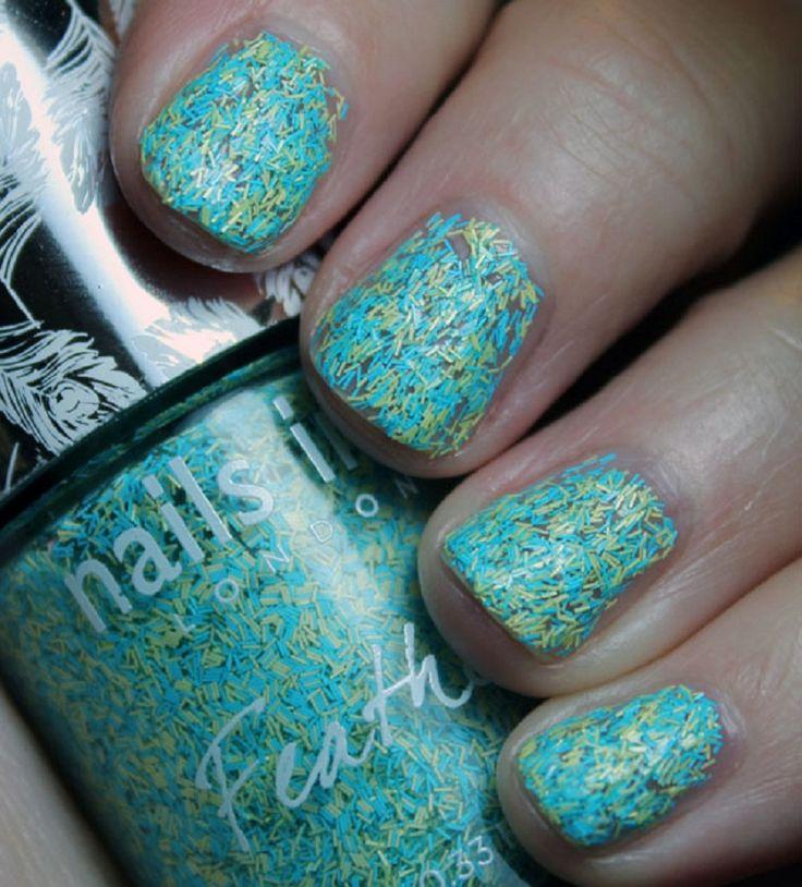 Creative Nail Polish Ideas-Graceful Fur Nail from Nails Inc