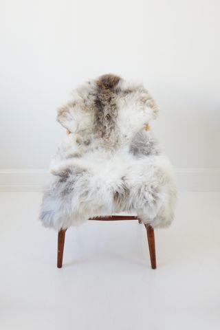 Hvid fluffy Lammeskind - Large