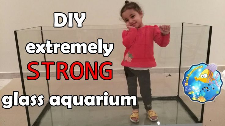 HOW TO: Build an Aquarium Glass With Extremely Strong BOTTOM (120g Reef ...