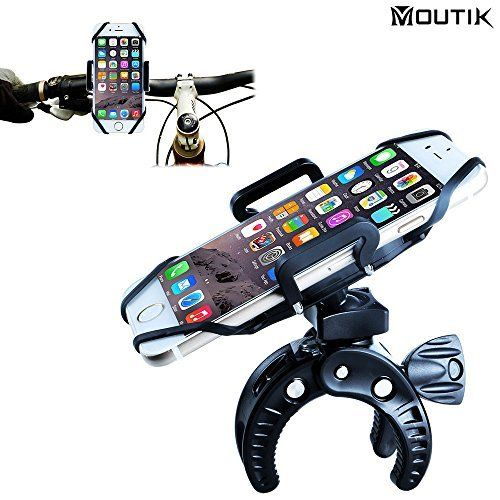 MOUTIK® Support Vélo Smartphone Support GPS Moto Fixation Guidon pour iphone SE/6/6s/5s/Samsung Galaxy S7/S6 Note S7 Edge/Sony…