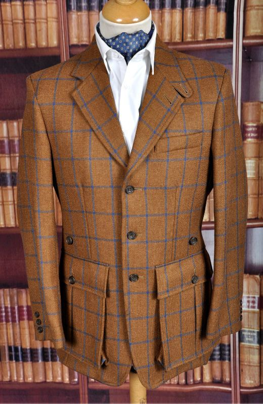 Classic tweed hunting jacket.