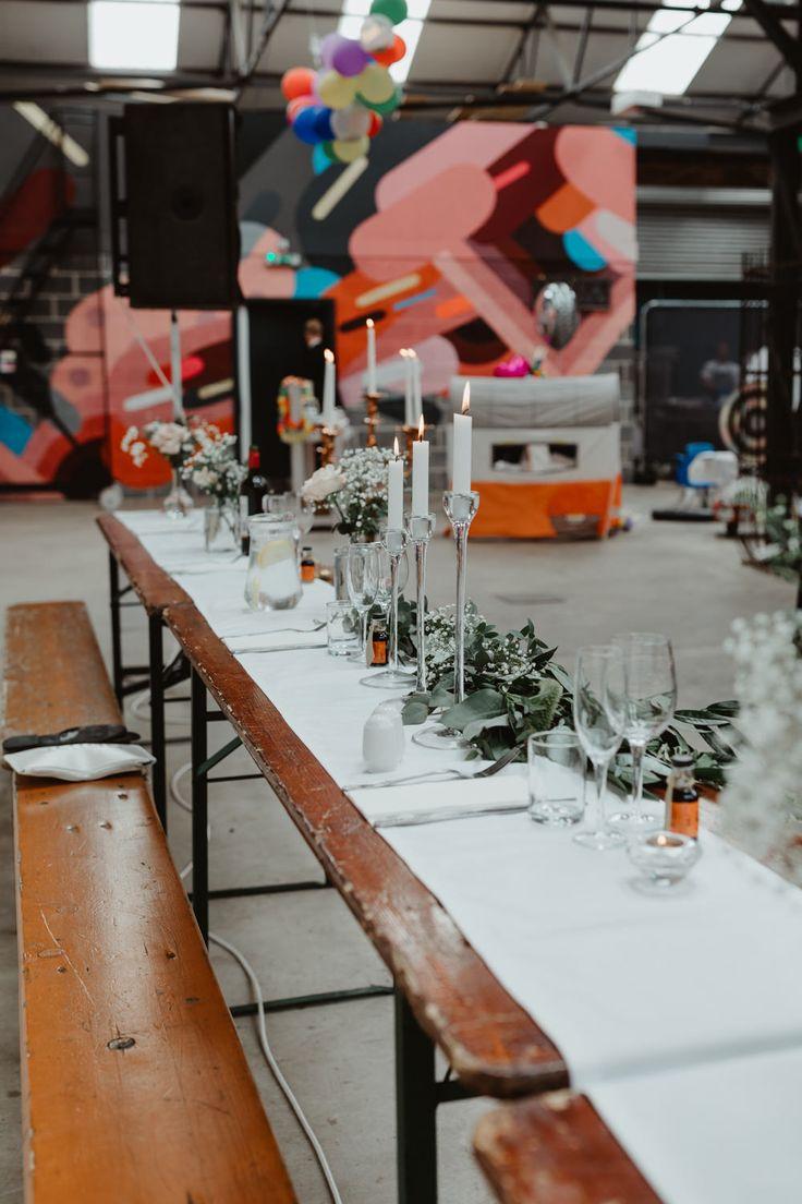 92 Burton Road Wedding Indie Industrial Warehouse Warehouse Wedding Alternative Wedding Inspiration Whimsical Wonderland Weddings