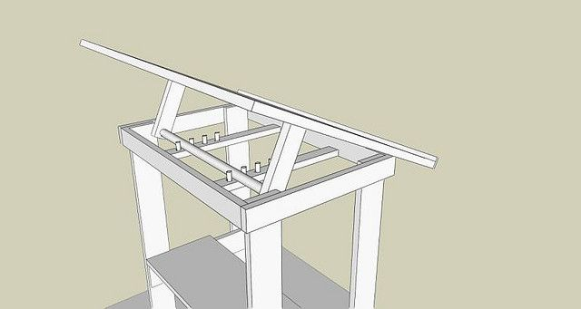 Diy adjustable drafting table back to the drawing board for Blueprint plan table