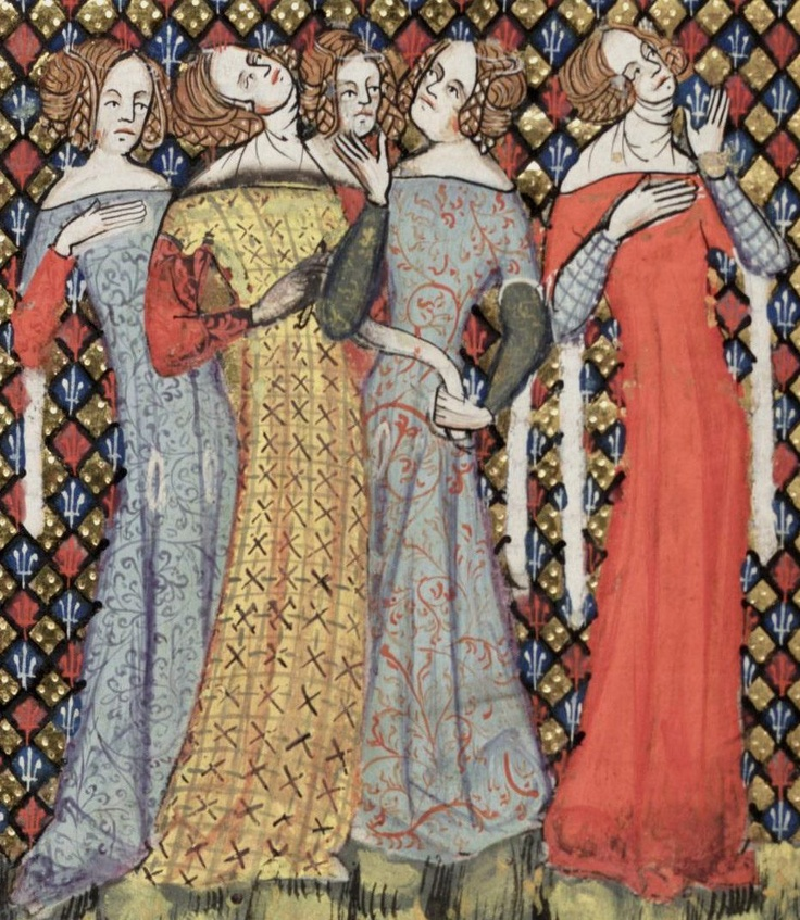 Romance of Alexander.  All the dresses are off the shoulder and not all of them are wearing visible chemises.