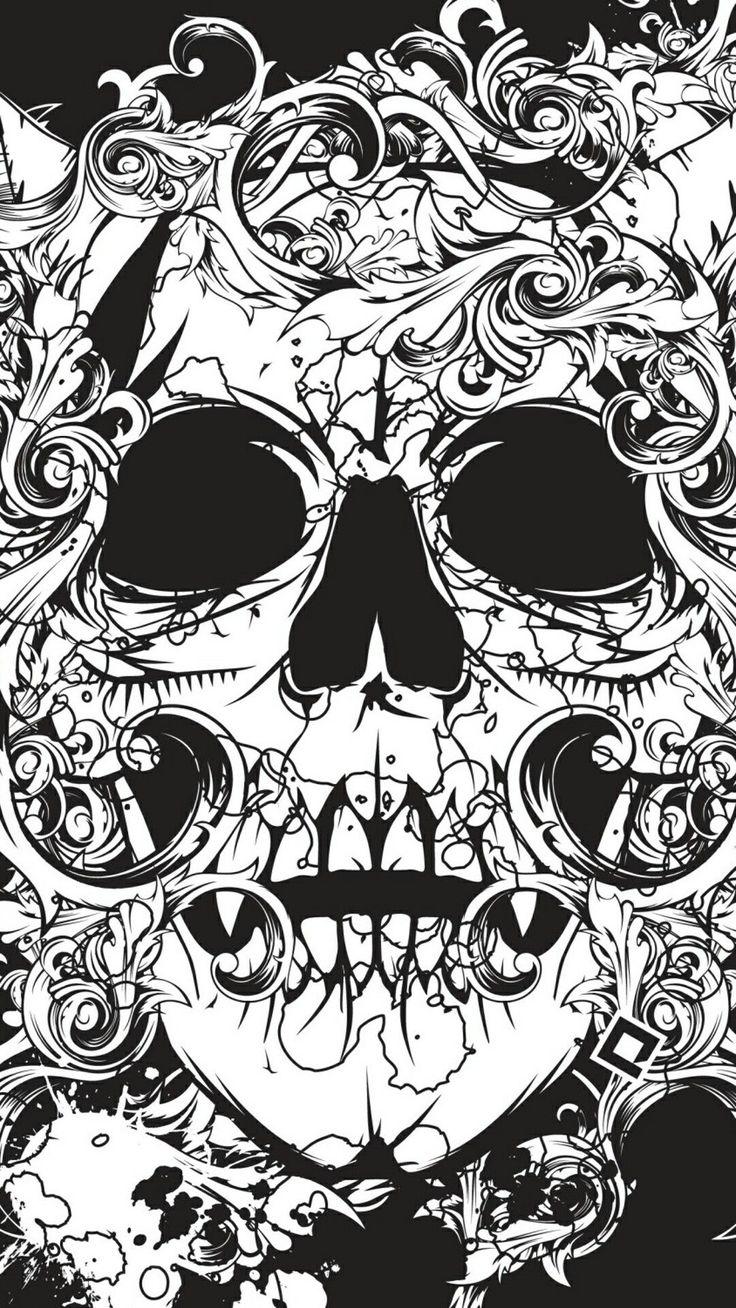 Feminine Sugar Skull Wallpaper Iphone feminine sugar
