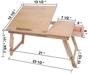 2 folding laptop stand table desk car bed portable tray